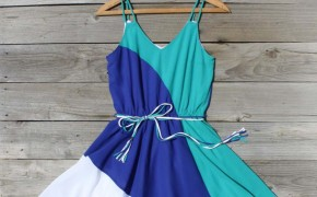 Spool no72 firecracker sundress teal blue color block