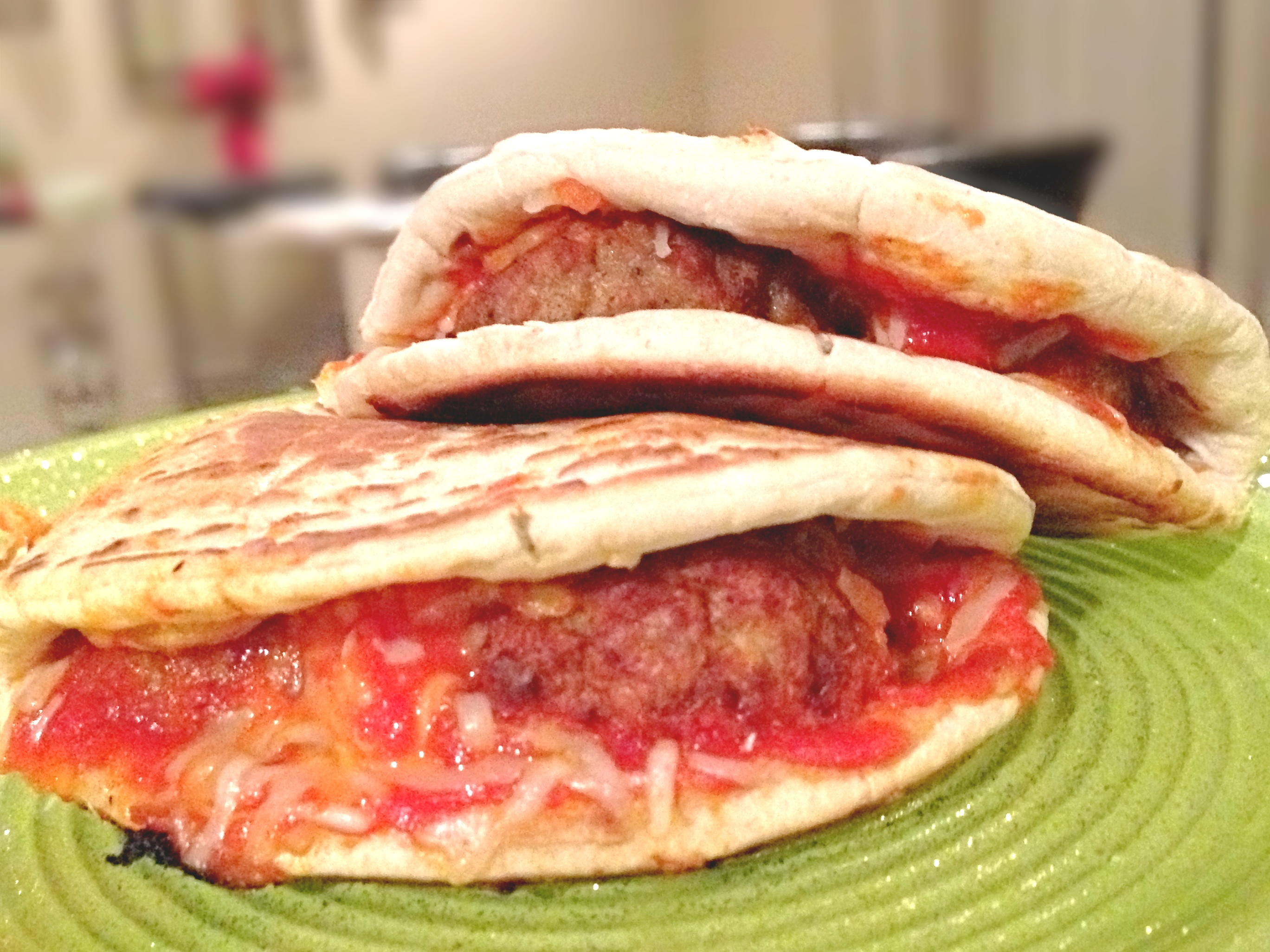 Turkey Meatball Parm Panini