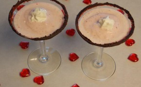 Spiked Strawberry Milkshake recipe valentine pink cocktail