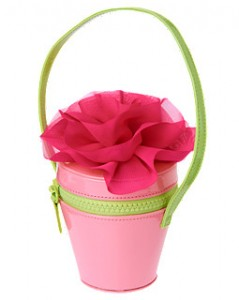 pink flower purse for girls easter spring