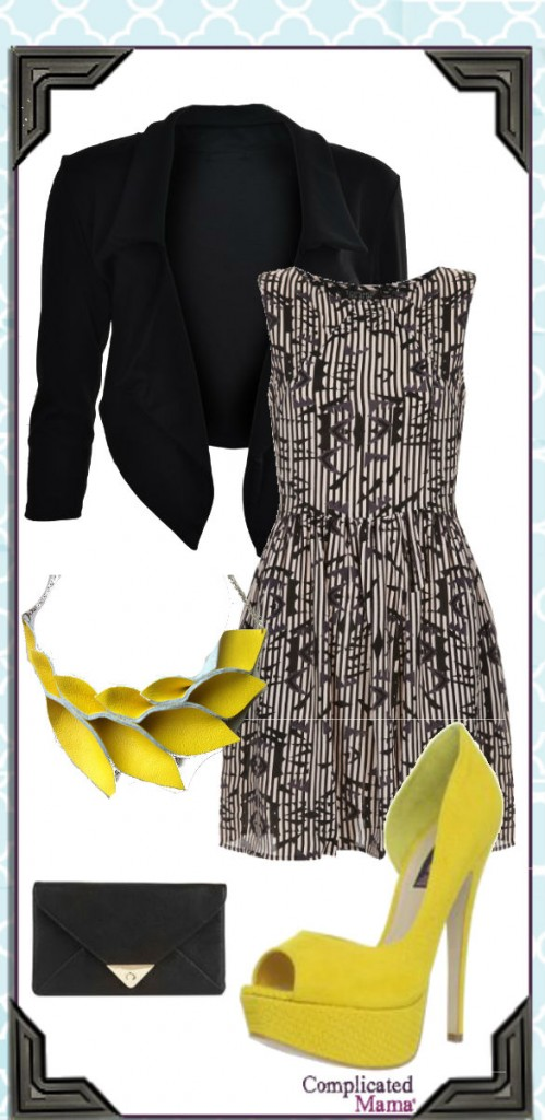Spring Yellow Dress Outfit_Style Collage