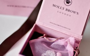 Molly Brown London pink bean necklace -girls special occasion jewelry