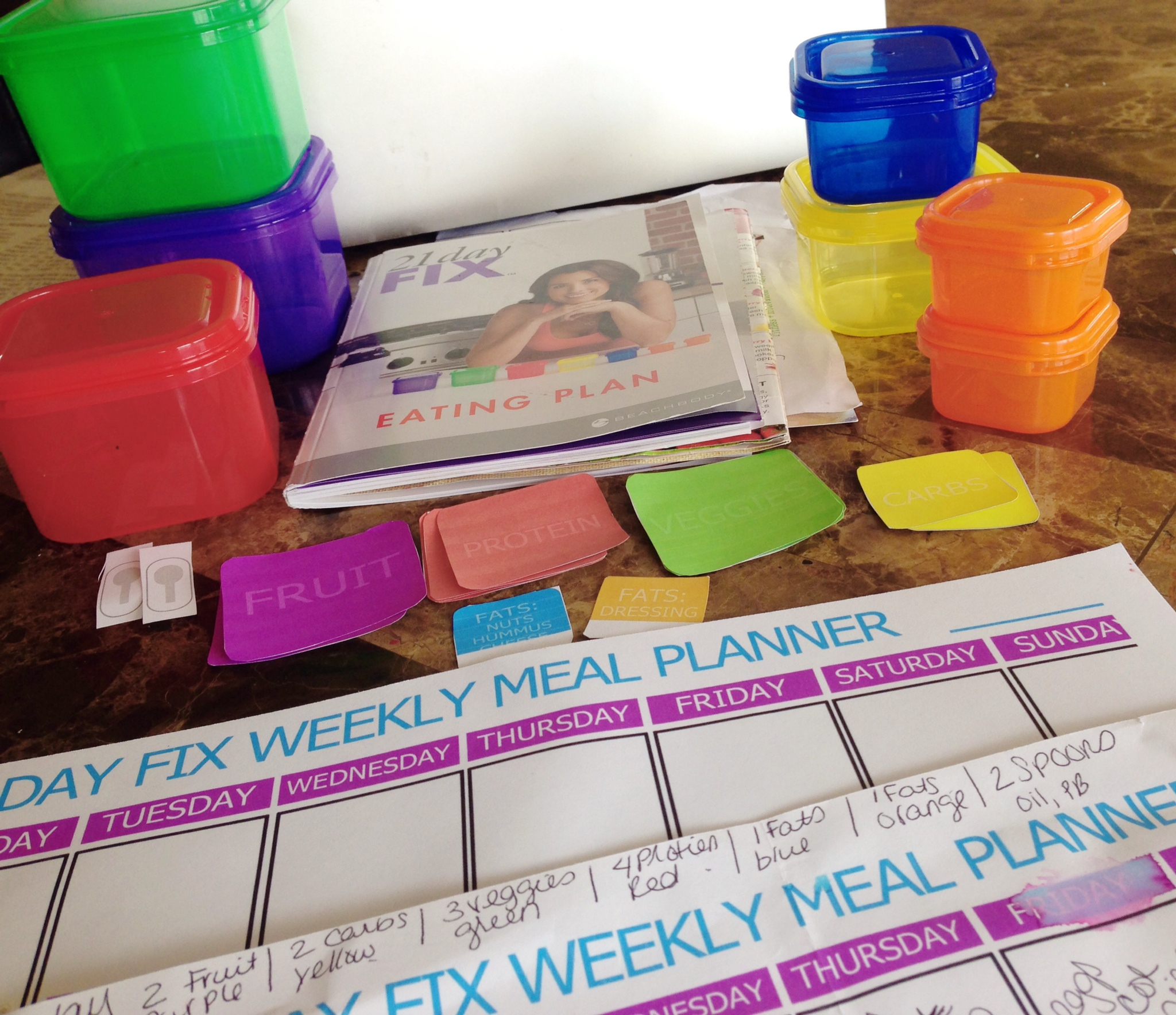 21 Day Fix Meal Planning Organization